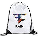 Discovery Wild Faze Clan Rain Logo Polyester Drawstring Backpack Sack Bag Home Travel Sport Storage Use