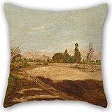 Artistdecor 16 X 16 Inches / 40 By 40 Cm Oil Painting José María Eguren - Limaâ€TMs Countryside Pillowcover ,two Sides Ornament And Gift To Son,living Room,festival,sofa,home Office,son