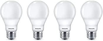 Philips LED Dimmable A21 Soft White Light Bulb with Warm Glow Effect 1100-Lumen, 2200-2700-Kelvin, 12-Watt (75-Watt Equivalent), E26 Base, Frosted, 4-Pack