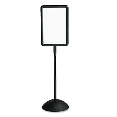 Double Sided Sign, Magnetic/Dry Erase Steel, 14 1/4 x 22 1/4, White, Black Frame, Sold as 1 -