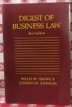 Digest of Business Law, Willis W. Hagen and Gordon H. Johnson, 0314931848