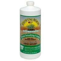 Lily Of The Desert Aloe Vera Juice Herbal Detoxifying Formula, 32 Ounce - 3 per case.