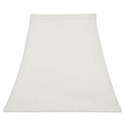 - Upgradelights Square Bell 6 Inch Clip On Chandelier Lampshade 3x6x6 (White Linen)