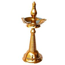 "Amazon.com: Kuthu Vilakku Kerala Brass Oil Lamp (16""): Home & Kitchen"