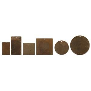 Variety Circles - Vintaj Natural Brass Various Shape Altered Blanks Sampler Set (27 Pieces)