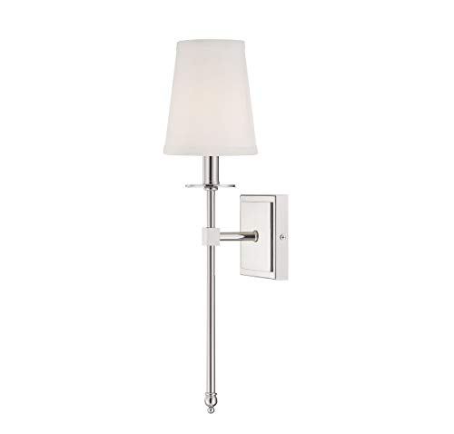 Savoy House 9-302-1-109, Monroe 1-Light Sconce, Polished Nickel ()