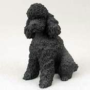 Poodle Sportcut Dog Figurine  Black by Conversation Concepts