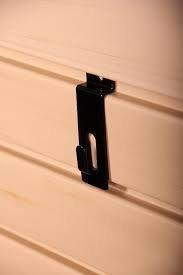 Slat Wall Notch Picture Hanger Utility Peg Hook Lot of 96 - New Black