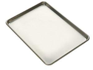 Focus Foodservice Half Size 14 Gauge Aluminum Sheet Pan, 13 x 18 x 1 inch -- 12 per case. by Focus Foodservice