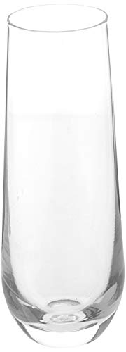 Circleware Stemless Champagne Flute Glasses Set of 4, Elegant All-Purpose Wine Drinking Glassware Beverage Cups for… |