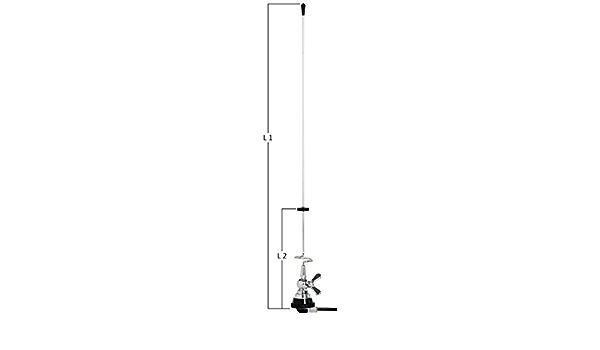 pdbx Antena Bibanda veicolare VHF-UHF de acero tarabile 145 ...