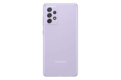 هاتف جالكسي ايه 72 ثنائي شرائح الاتصال من سامسونج، ذاكرة 128 جيجا، ذاكرة رام 8 جيجا، تقنية اتصال الجيل الرابع ال تي اي، بنفسجي فاتح