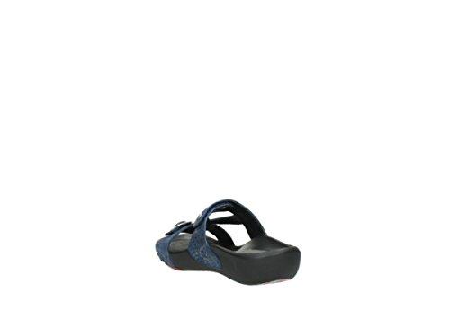 Hellblau Wolky Comfort Mules Leder 60800 Snakeprint OConnor 4Sa0q