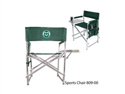 NCAA Colorado State Rams Embroidered Sports Chair, Hunter Green, One Size by PICNIC TIME