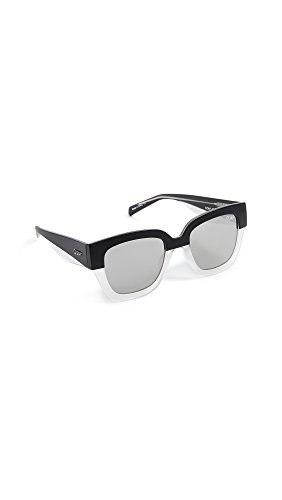 Quay Women's Don't Stop Sunglasses, Black & White/Silver, One - Sunglasses Quay White