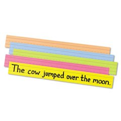 PAC1733 - Sentence Strips, Sturdy Tagboard, 3x28, 100/PK, Asstorted