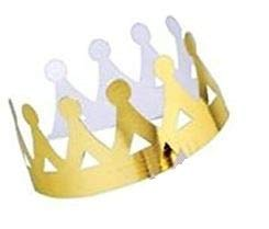 Wanna Party Queen Paper Crown (Gold, Pack of 10)