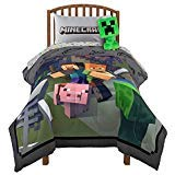 Minecraft Fighting Back Twin Comforter and Sheet Set with Pillow