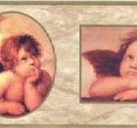 Raphaels Angels Cherubs Wallpaper Border (Wallpaper Cherub)