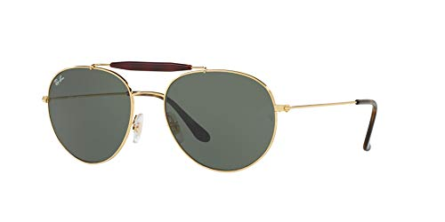 Polarized Sunglasses, Polished Gold / Crystal Green, 56 mm ()