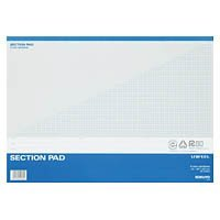 Kokuyo Les -500 section pad & lt; UNIFEEL & gt; A3 5mm grid through ruled 50 sheets 5 sets