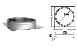 M G Duravent 12DT-AP 12 Inch Duratech Anchor Plate by Chimney