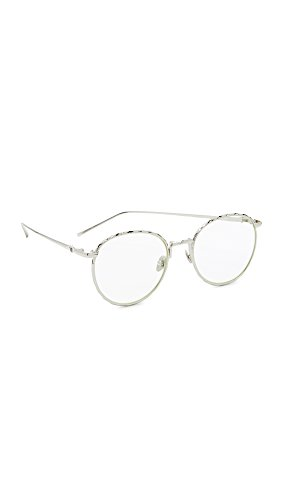 Valley Eyewear Women's Corpus Glasses, Silver/Clear, One - Sunglasses Valley Eyewear