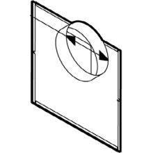 Broan 961L in-line Adapter 6 Round Duct for 100//150 CFM Ceiling Mount Models