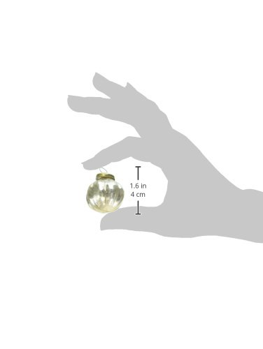 Creative Co-Op XC5489 Set of 36 Gold Mercury Glass Ornaments in Bag