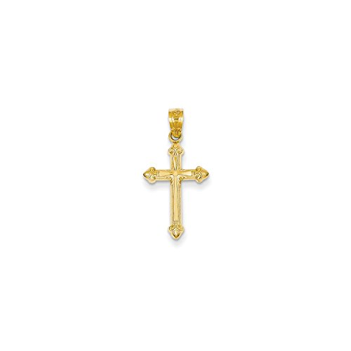 Roy Rose Jewelry 14K Yellow Gold Passion Cross Pendant 25mm length (14k Passion Cross Pendant)