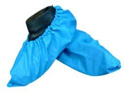 Polyethylene Shoe Covers - Polyethylene Disposables CPE-L-1 Shoe Cover, Large, Blue, Case of 1000