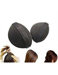Bump It Up Volume Base per capelli, capelli da donna, a forma di alveare, retina per acconciare capelli, chignon Treccia Clip per utensili, accessori per capelli, colore: nero Elandy