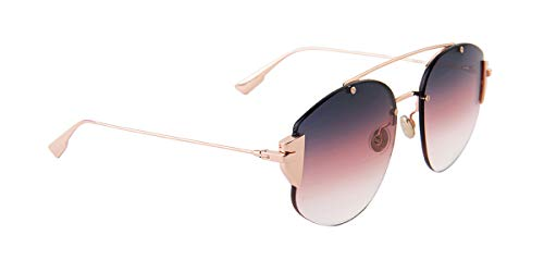 (Dior Stronger Rose Gold/Pink Lens Sunglasses)