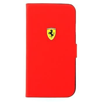 Samsung Galaxy S4 Ferrari Rubber Flap Case Book Type Flap Case - Red