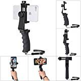 Cell Phone Stabilizer Hand Grip Holder Smartphone Handle Phone Holder Support Selfie Stick Compatible for iPhone Xs Max XR X 8+ 8 7+ 7 6S+ 6S 6+ 6 5 5SE Galaxy Note 9 S9 etc Landscape + Portrait Mode