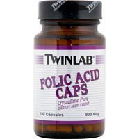 Twinlab Folic Acid 800Mcg 100 cap (Pack of 2)
