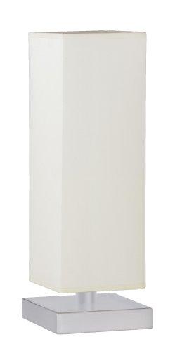 Trio 5914011-01 Serie 5914 - Sobremesa, bombilla excluida, E14, 60 W, 230 V, A++, E, IP20, 35,5 x 12 x 12 cm, diámetro 12 cm, metal, níquel mate