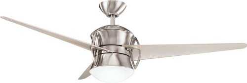 """Kichler 300125BSS, Cadence Brushed Stainless Steel 54"""" Ceiling Fan w/Light & Remote Control"""