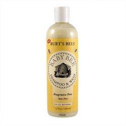 Burts Bees, Baby Bee Fragrance Free Shampoo & Wa, 12 Fl Oz