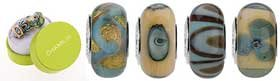 Authentic Chamilia Murano Glass Ocean Sands Bead Set Sterling Silver OG-3