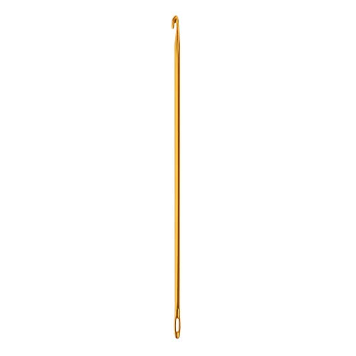 Afghan/Tunisian Crochet Aluminum Hand Knit Tool with Hole fit for Mother Women Girls Gift (Gold, - Afghan Mother