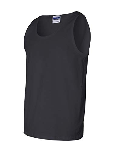 (Gildan Ultra Cotton Tank Top, L, Black)