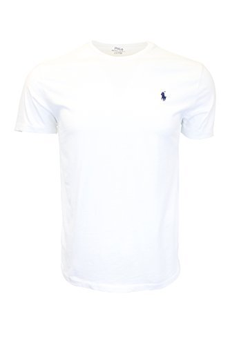 Polo Ralph Lauren Men's Crew Neck T-shirt (Large, White) Polo Neck T-shirts