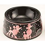 VGPD Elevated Porcelain Poodle Pet Bowl