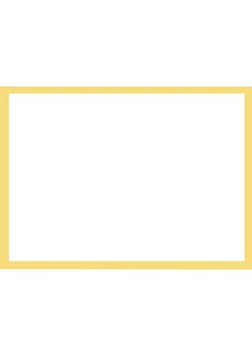 A7 Flat Notecards (5 1/8 x 7) - Gold Border Cards (1000 Qty.) by Envelopes Store