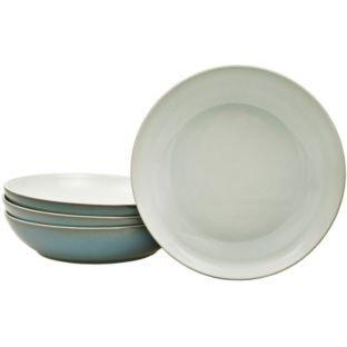 Denby Everyday Teal Pasta Bowl - 4 Piece Set.: Amazon.co.uk: Kitchen ...