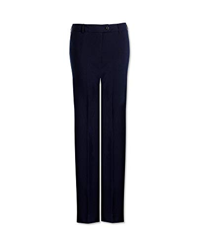 Negro Color Pantalón Para Mujer Easycare Clásica pierna Alexandra Zq0vC4wW