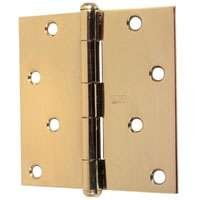 Solid Brass Hinge Square Corners - Stanley Hardware S800-100 CD749 Solid Brass Square Corner Residential Hinge in Bright Brass