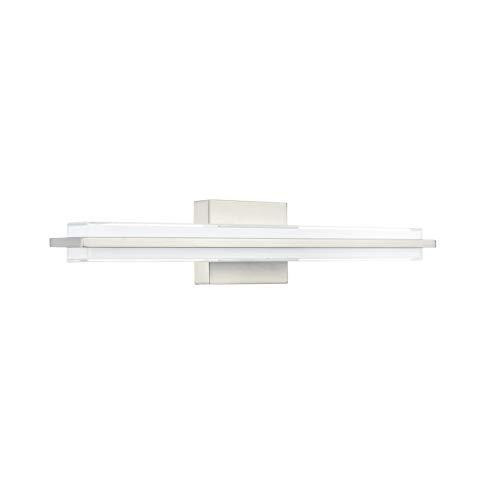Dario 24 inch LED Bathroom Vanity Lights | Brushed Nickel Bathroom Light LL-WL927-1BN-24 ()