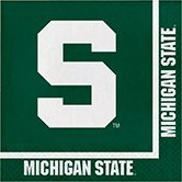Pack of 240 NCAA Michigan State Spartans 2-Ply Tailgating Party Lunch Napkins -